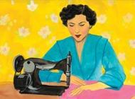 vattenmålning kvinna stmaskin